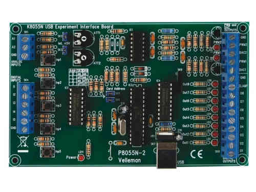 USB EXPERIMENT INTERFACE BOARD