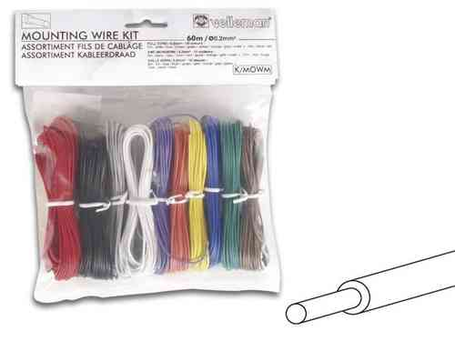 MOUNTING WIRE KIT 10 COLOURS FULL CORE