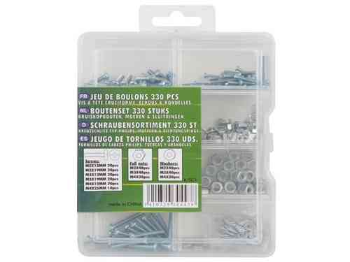 BOLT SET 330 PCS (SCREWS, NUTS & WASHERS)