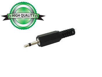 2.5mm JACK MALE CONNECTOR - BLACK MONO