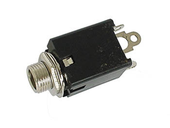 6.35mm FEMALE JACK CONNECTOR -  STEREO