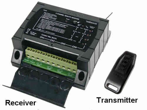 4-CHANNEL RF REMOTE CONTROL SET