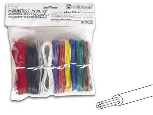 MOUNTING WIRE KIT - 10 COLOURS MULTICORE