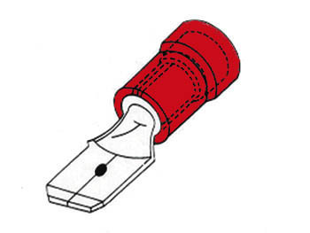 MALE CONNECTOR 2.8mm RED