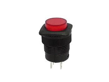PUSH-BUTTON SWITCH OFF-(ON) WITH RED LED