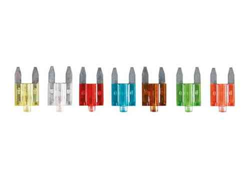 10-PIECE MINI CAR FUSE SET WITH INDICATOR