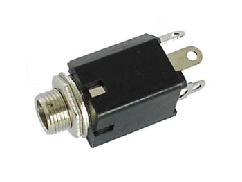 6.35mm FEMALE JACK CONNECTOR - WITH SWITCH