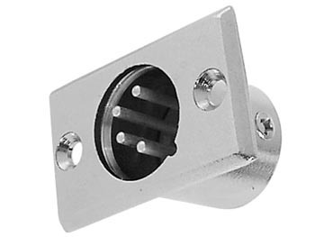4P MALE XLR PLUG - NICKEL - CHASSIS