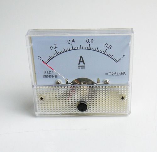 1A Analog Panel AMP Current Meter