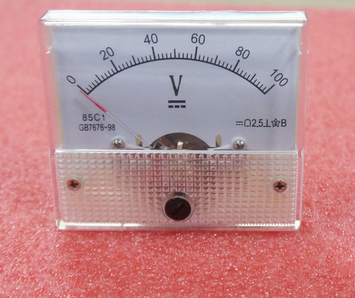 DC 100V Analog Panel Volt Voltage Meter
