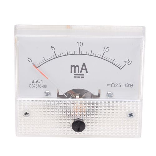 AC 20mA Analog Panel AMP Current Meter