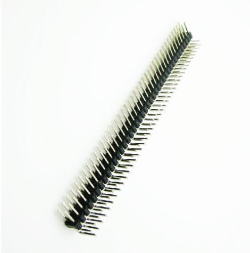 2.54mm 2 x 40 Pin Male Double Row 90Deg