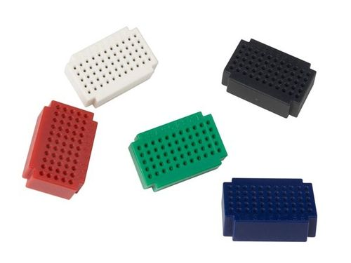 SET OF MINI BREADBOARDS - 55 TIE-POINTS