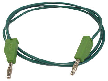 TEST LEADS MOULDED BANANA PLUG GREEN