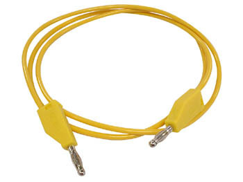 TEST LEADS MOULDED BANANA PLUG YELLOW