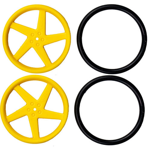 Pair of 5 Spoke Wheels for TT motor - Y