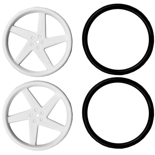 Pair of 5 Spoke Wheels for Servo Motor - W