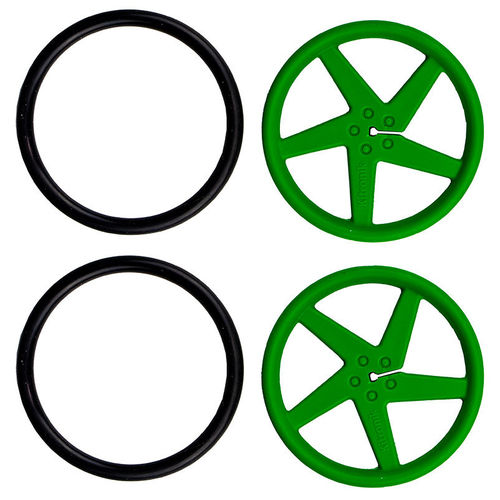 Pair of 5 Spoke Wheels for D-Shaft Motor G