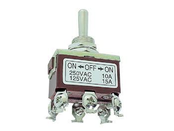 MAXI TOGGLE SWITCH DPDT ON-OFF-ON 10A/250V