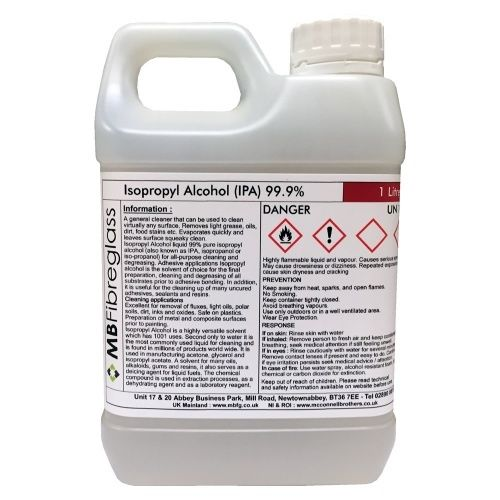 Isopropyl Alcohol (IPA) 99.9% - 1 Litre